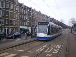 Tram 1 op de Overtoom